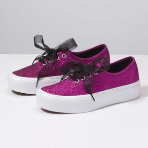 VANS Authentic Glitter Platform Shoes